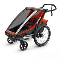 Shop Thule Chariot Cross 1, Orange/Dark Shadow At The Bike Doctor, Vancouver.