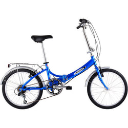Asama Aluminum Folding Bike Blue - Shop Bike Doctor, Vancouver!