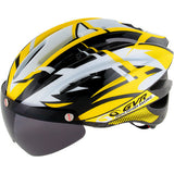 GVR Sport Helmet with Visor Yellow M/L - Bike Doctor, Vancouver