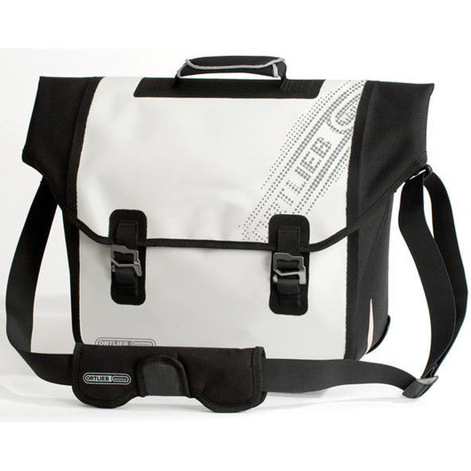 Ortlieb Downtown QL3 18L Pannier Bag White/Black - Bike Doctor, Vancouver