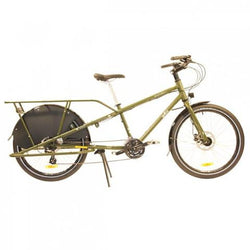 Shop Yuba Mundo Lux V5 Cargo Bike Olive Green At The Bike Doctor, Vancouver.