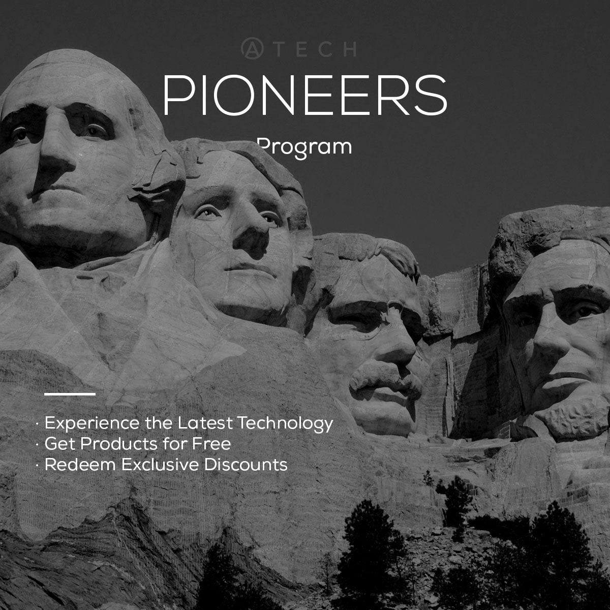 Atech Pioneers Program for free products, exclusive discounts and offers