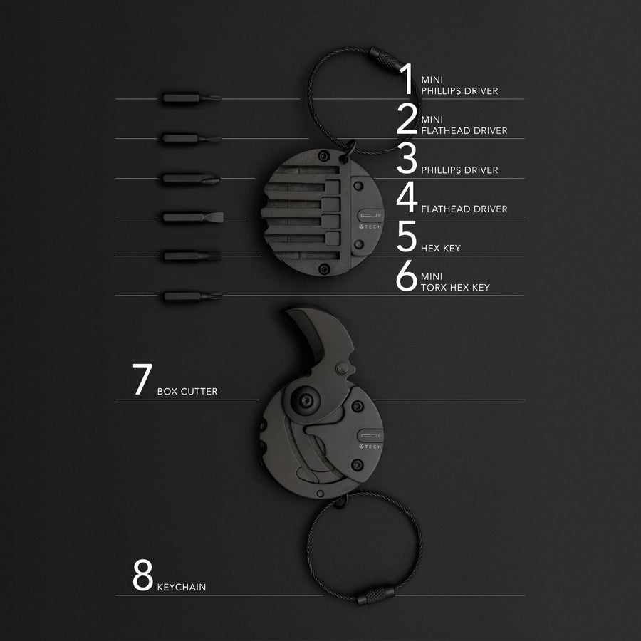 Multitool 8-in-1 Keychain - ATECH
