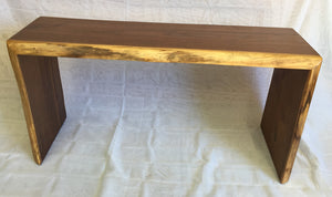 Walnut Waterfall Bench