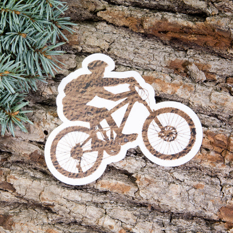 Mountain Biker Sticker - Left Coast Life