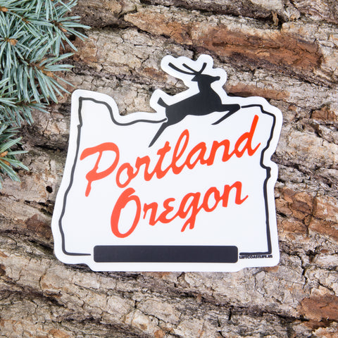 White Stag Sign Decal - Left Coast Life