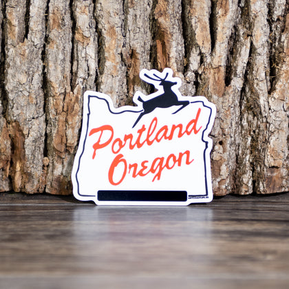 White Stag Sign Magnet - Left Coast Life