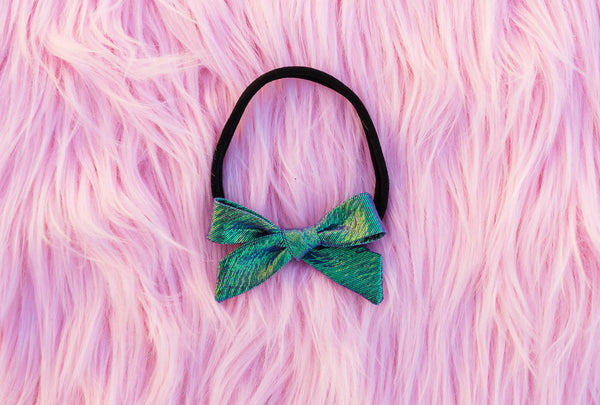 Iridescent Greenery Bow