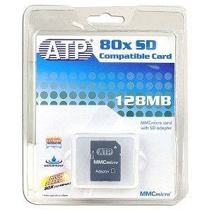 ATP AF128MC 128MB MMC micro Memory Card w/ SD Card Adapter