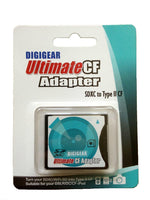 Digigear SDXCF SD SDHC SDXC to CF Type II Extreme/Ultimate Compact Flash Card Adapter