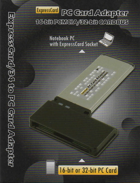 PCEXP Digigear 32-bit CardBus / 16-bit PCMCIA PC Card 34 mm ExpressCard Adapter
