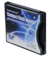 Shopdigi SD/SDHC/MMC/Eye-Fi card to Compact Flash CF Type II Adapter for DSLR Digital Camera
