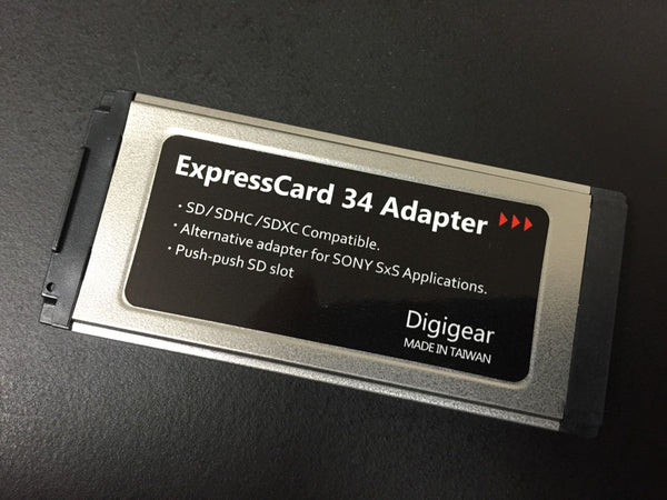 SDXCEXP SD/SDHC/SDXC TO EXPRESSCARD ADAPTER FOR SONY SXS PRO CARD APPLICATION/REPLACEMENT UPTO 2TB
