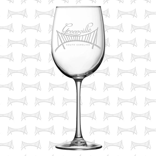 Greenville Liberty Bridge 19 oz. Wine Glass