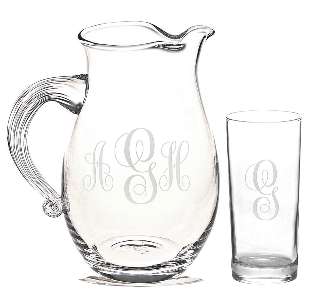 Monogramed 7 pc Geneva Beverage Set