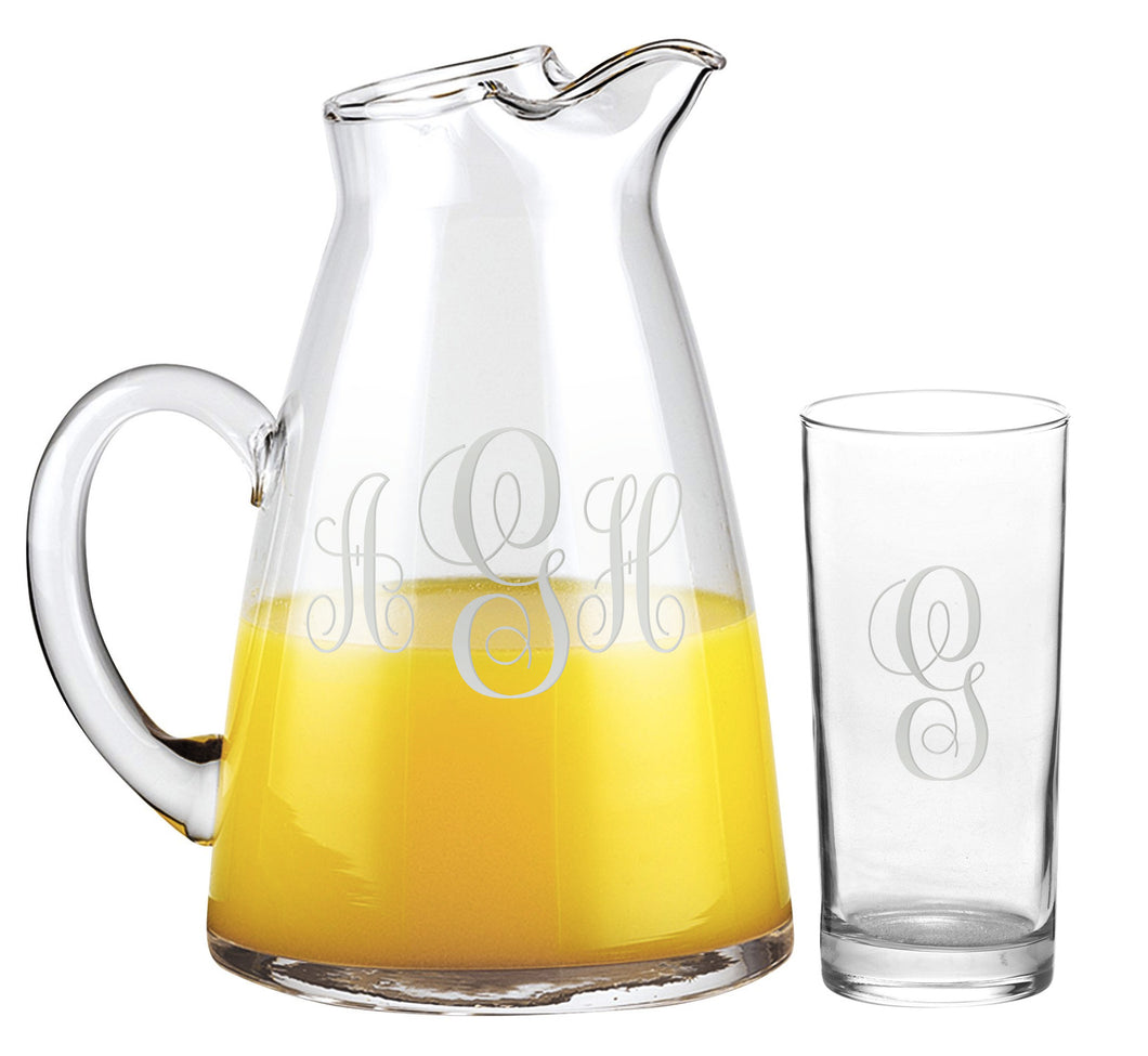 Monogramed 7 Pc Tower Beverage Set