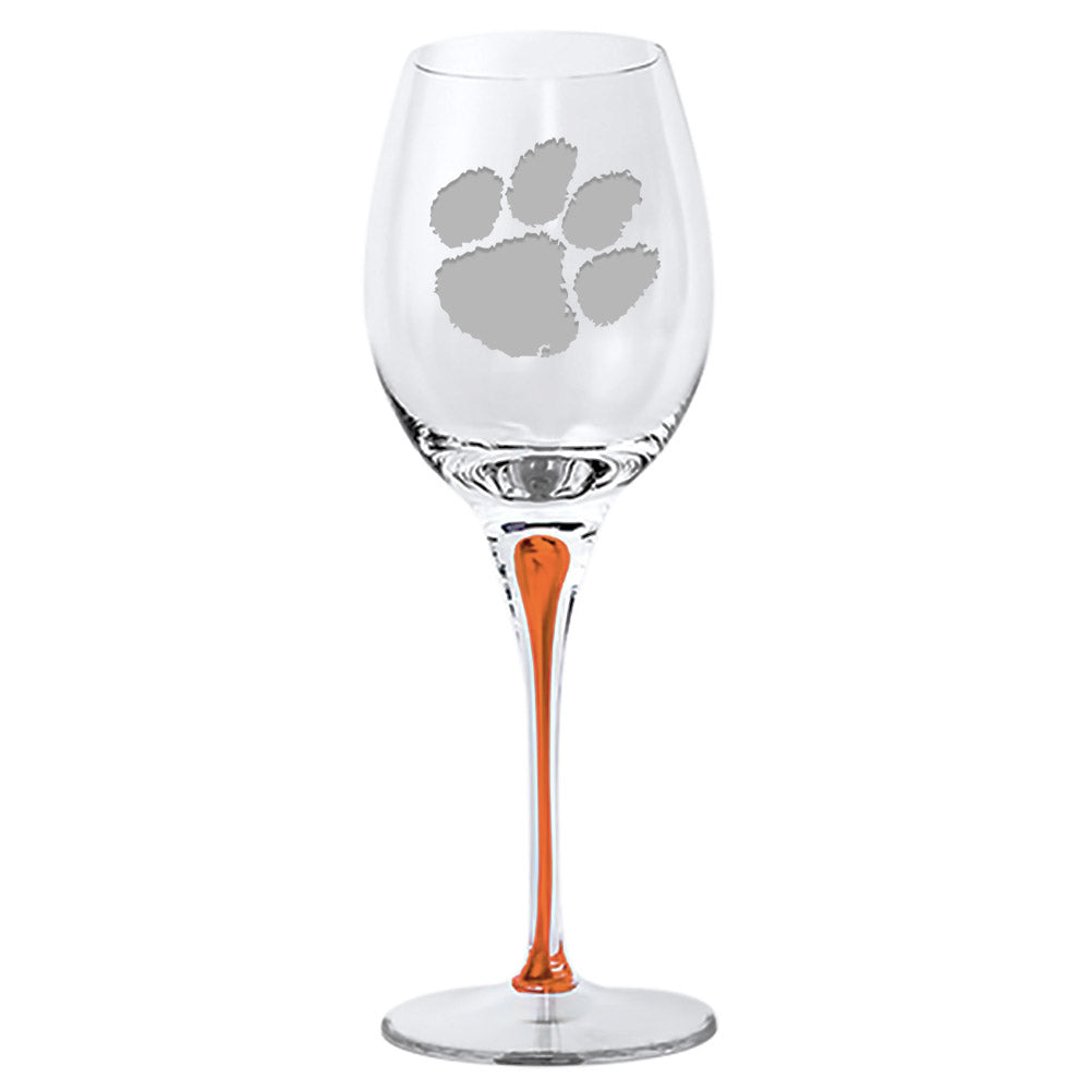 Clemson Tiger Paw Hand-blown Red Wine Glass 22 oz, SET OF 2 …