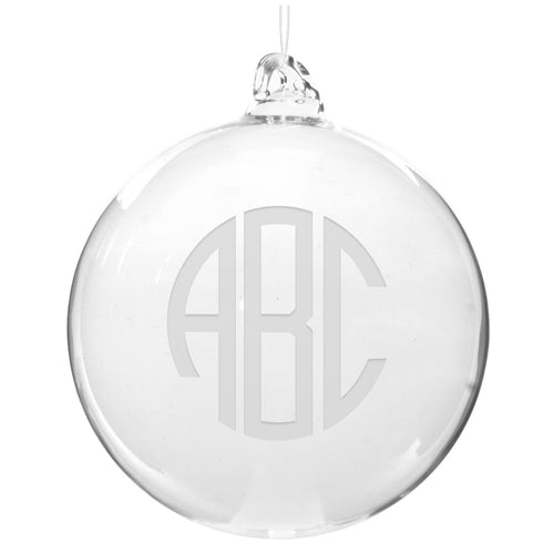 Personalized Glass Ball Ornament