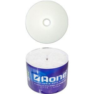 AONE DVD-R 16X Write FF Full Face Inkjet Printable 50 Spindle/Cake Box Blank Dis