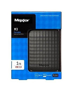 "Maxtor M3 1TB 2.5"" Mobile External Hard External Black USB Portable HDD"