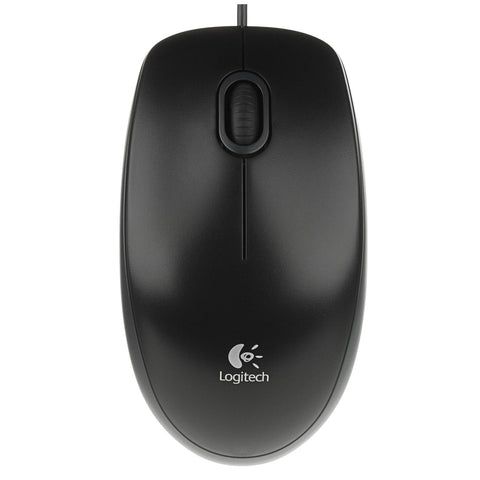 Logitech B100 Wired PC Computer Optical Mouse USB Comfortable Ambidextrous (910-003357) Black (Windows/Mac)