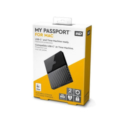 "Macbook Pro/iMac (Time Machine Backup Ready) WD My Passport 2TB 2.5"" Mobile Hard Drive USB-C + USB 3.0 Black WDBLPG0020BBK-WESE"
