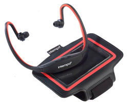 Intempo Sports Earphones Bluetooh Red Running In Ear Armband
