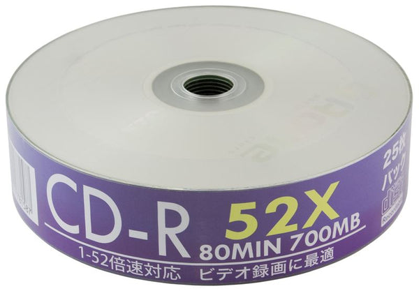Aone CD-R Blank Discs 52X Inkjet Printable FF 25pcs Spindle 700mb Music/Data CDs