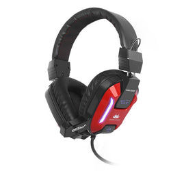 Sumvision Akuma GX800 Wired Gaming Headphones/Headset with Mic for PC Computer - RED