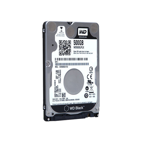 WD BLACK 500GB 2.5 inch 7mm 7200RPM 32MB SATA 6Gb/SEC INTERNAL HDD
