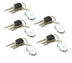 BasicXL (5 Pack) Whistle and Find Home/Car Key Finder, Keyring with LED Torch