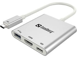Sandberg USB-C Mini Dock Type-C with HDMI + USB 3.0 Macbook Pro Adapter Hub & Laptop Computers with USB-C