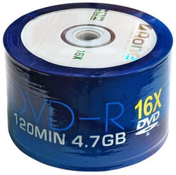 DVD-R AOne Logo Spindle/Cake Box of 50 Blank Discs (16X Write) Recordable DVDs