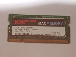Komputer Mac 2GB DDR2 Memory 800mHz PC2-6400 SoDimm Apple iMac Macbook