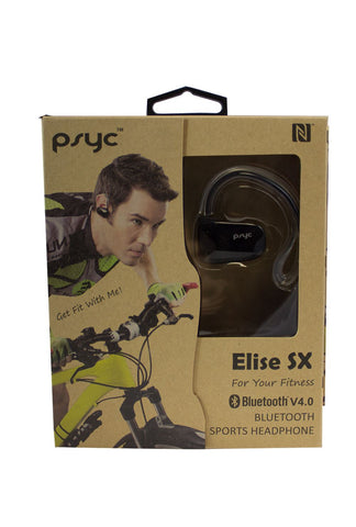 PSYC Elise SX Black Bluetooth wireless Sport Earphones