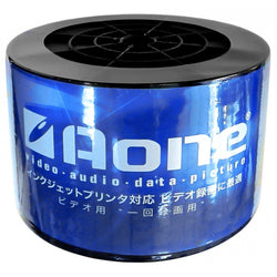 150 DVDs AONE DVD-R 16X Write Blank Discs FF White Inkjet Printable (Twin 50 Spindle/Cake Box)
