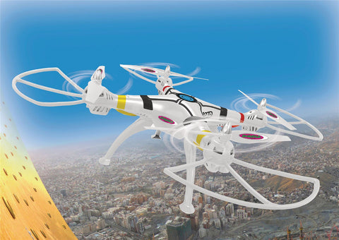 Jamara R/C Drone Payload Altitude 4+4 Channel RTF / Gyro Inside / With Lights / 360 Flip 2.4 GHz Control White