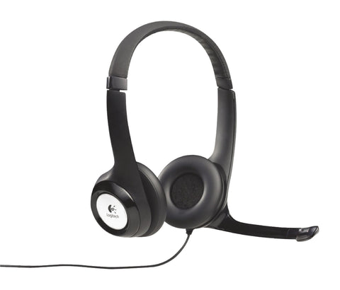 Logitech Headset ANC (Active Noise Cancelling) On-Ear USB Wired Built-In Microphone 2.4m Black 981-000406 LGT-H390