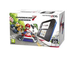 Nintendo 2DS Video Game Console BLACK & BLUE + MARIO KART 7