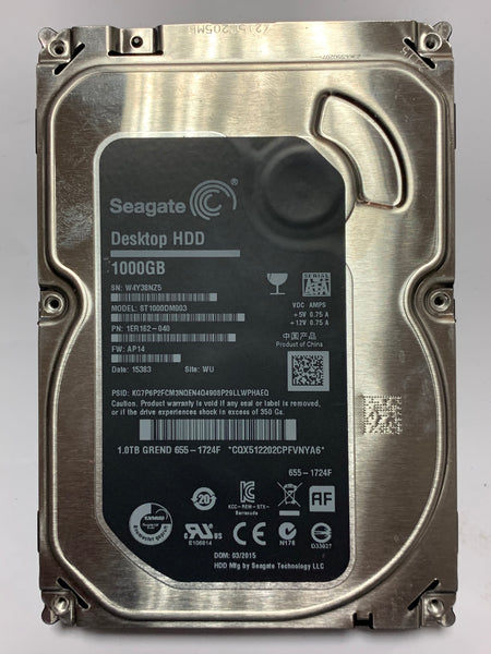 "Seagate Apple 3.5"" iMac A1419 Internal 1TB Hard Disk Drive ST1000DM003 655-1724F (Fusion Ready) SATA III 6Gbp/s"