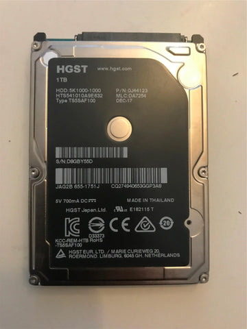 "HGST 1TB Apple 655-1751J iMac A1418 Macbook Pro Hard Disk Drive 2.5"" 1000GB HDD"
