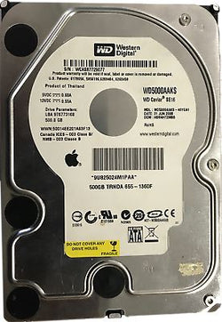 Apple Certified 655-1360F Western Digital WD5000AAKS Hard Disk Drive 500GB 3.5""