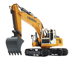 R/C Digger Liebherr 6+2 Channel Sound / With Lights 2.4 GHz Control 1:20 Yellow