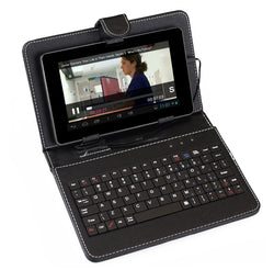 "New Sumvision Keyboard Leather Case for 7"" Android Samsung Tablet"