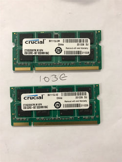 Apple Certified Crucial 4GB (2x2GB) DDR2 667mhz PC2-5300 CT2G2S667M.M16FH SoDIMM MacBook iMac Memory