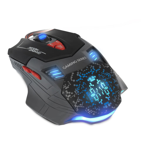 Panzer Black 7-Button Programmable LED Backlit Nemesis PC Computer Gaming Mouse USB Wired 2500dpi (Macro) by Sumvision
