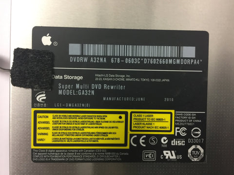 Apple iMac A1311/A1312 2009-2011 Optical Drive CD/DVD Writer GA32N 678-0603D/C