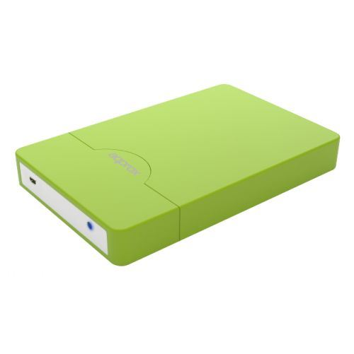 "Approx Green External 2.5"" SATA Hard Drive Caddy, USB2, USB Powered, Screwless,"