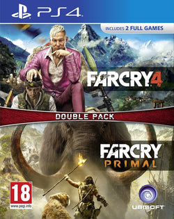 New Sealed Far Cry 4 + Far Cry Primal Double Pack Action Adventure Video Games for PS4