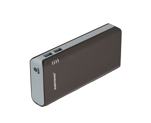 Sumvision External Portable Battery Charger 10000maH Power Bank Dual Port Tablet Smartphone iPhone